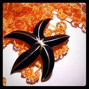 Pretty VTG Starfish Brooch
